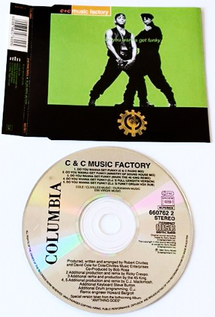 C+C Music Factory - Do You Wanna Get Funky (CD Single Pt 1) (VG/EX)